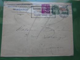 VEND TIMBRES DE FRANCE N° 1116 + 1125 SUR LETTRE DE CAYENNE - GUYANE !!! - Guyane Française (1886-1949)