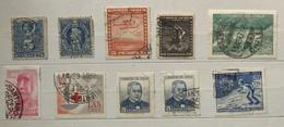 CILE - CHILE 7 Francobolli Usati 1934 - 1969 - Cile