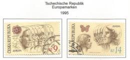 Tschechische Republik 1995  Mi.Nr. 76 / 77 , EUROPA CEPT - Frieden Und Freiheit - Gestempelt / Fine Used / (o) - Europa-CEPT