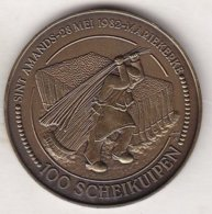 100 SCHEIKUIPEN SINT AMANDS 1982 MARIEKERKE - Gemeentepenningen