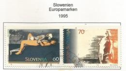 Slowenien / Slovenija 1995  Mi.Nr. 110 / 110 , EUROPA CEPT - Frieden Und Freiheit - Gestempelt / Fine Used / (o) - Europa-CEPT
