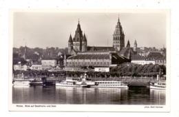 """BINNENSCHIFFE - RHEIN, Binnenschiffe, Köln-Düsseldorfer """"KAISERIN FRIEDRICH"""" Vor Mainz - Paquebots"""