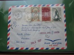 VEND N° 1396 + 1411 + 1482 SUR LETTRE POUR LE BATEAU FORT FLEUR D'EPEE A LA NOUVELLE-ORLEANS + TAXE !!! - Briefe U. Dokumente