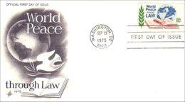 USA FDC Peace Through Law Paix (A61-410) - FDC