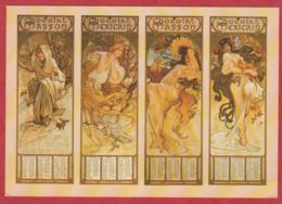 PUB - Affiches - Chocolat - Alphonse Mucha - 4 Saisons - Chocolat Masson- 170X120 - Pubblicitari