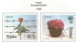 Polen / Polska 1995  Mi.Nr. 3533 / 3534 , EUROPA CEPT - Frieden Und Freiheit - Gestempelt / Fine Used / (o) - Europa-CEPT