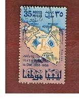 LIBIA  (LIBYA) -   SG 230   -  1956 ADMISSION TO O.N.U. 1ST ANNIVERSARY     -  USED° - Libia