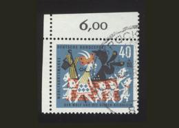 BRD 1963: Michel-Nr. 411, Wohlfahrt 1963, 40 Pf., Eckrand Links Oben, Siehe Foto,  Gestempelt - BRD