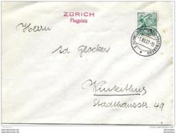 """121 - 16 - Envelppe Avec Oblit Spéciale """"Zürich Flugplatz 1937"""" - Marcophilie"""