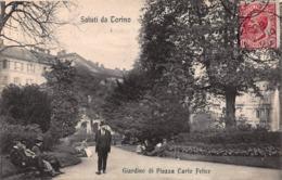 CPA Saluti Da Torino - Giardino Di Piazza Carlo Felice - Parcs & Jardins