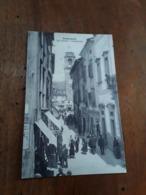 Cartolina Postale D'epoca, Pontremoli Via Cavour E Campanone - Massa