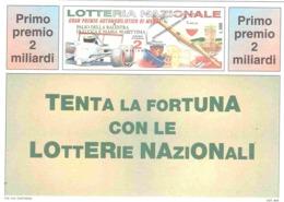 1991 £600  CAGLI SU CARTOLINA LOTTERIA NAZIONALE - Pubblicitari