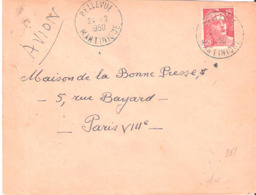 Martinique :- BELLEVUE DateurA6 En Bleu - Marcophilie (Lettres)