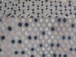 Ethnie KUBA - Zaïre - Congo - Afrique Centrale  - Rectangle  De Velours De Raphia - 62 X 49 Cm - African Art