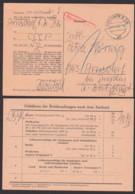 Postsache Dresden 11.1.66, Vordruckkarte Zum Einzug Fehlender Gebühr, Rs. Gebühren-Übersicht, Sendung War Zu Schwer, - [6] République Démocratique