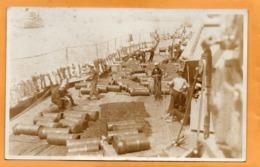 USS Idaho Old Real Photo Postcard - Warships
