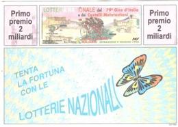 1990 £600 MONTEPULCIANO SU CARTOLINA LOTTERIA NAZIONALE - Pubblicitari