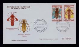 """Anoplocnemis Curvipes Fabricius""  MAURITANIE Fdc Insectes 1970 Faune Gc4212 - Insectes"