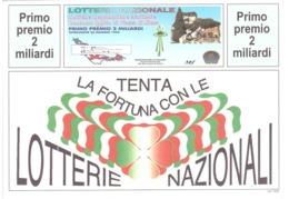 1991 £600 LA MADDALENA SU CARTOLINA LOTTERIA NAZIONALE - Pubblicitari