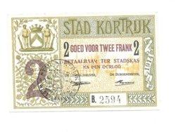 Noodgeld - Kortrijk - 2 Fr - 1914 - [ 3] Occupations Allemandes De La Belgique