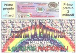 1991 £600 SANREMO SU CARTOLINA LOTTERIA NAZIONALE - Pubblicitari