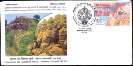 BUDDHISM-BOJJANAKONDA & LINGAMETTA HILLOCKS-SANKARAM(ANKAPALLI) 240B.C.-SPECIAL COVER-INDIA-2015-BX1-394 - Buddhismus