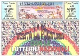 1990 £600 SABBIONETA SU CARTOLINA LOTTERIA NAZIONALE - Pubblicitari