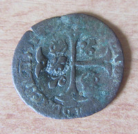 France - Douzain Henri IV Aux 2 H Contremarqué En Quinzain - Date Presque Illisible (1591 ??) - Billon - 987-1789 Monnaies Royales