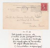 USA CARTE DE L'UNIVERSAL STATES GEOLOGICAL SURVEY  1902 - Geology
