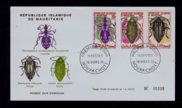 """"""" Latreulle Olivier Thermophilum Sexmaculatum Marginatum""""  MAURITANIE Fdc Insectes Faune 1970 Gc4213 - Insectes"""