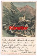 178 Grubhofer Dorf Und Schloss Landeck Künstlerkarte - Landeck