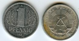 Allemagne Germany RDA DDR 1 Pfennig 1981 A J 1508 KM 8.2 - 1 Pfennig