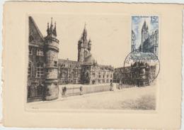 Carte-Maximum FRANCE  N° Yvert 1051 (Beffroi De DOUAI) Obl Sp 1er Jour (Ed LR Litho Gd Ft) RRR - 1950-59