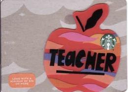 USA - Apple, Teacher Starbucks Card, - Cartes Cadeaux