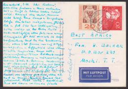 Ludwig Van Beethoven 20 Pfg. Aus Block BRD 317 Portogenau, Auslandsporto Nach Moshi East Afrika 9.10.59 - BRD
