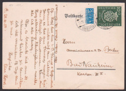 Bach, Johann Sebastian Bachsiegel 10+2 Pfg. BRD 121 Mit 2 Pfg. Notopfer BERLIN Steuermarke, Oestrich Rheingau 25.10.50 - BRD