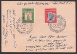 IFABRA 1953 BRD 171/2 SoSt. Frankfurt 2.8.53 Ausstellung Mit Verschiedenen Vignetten Spendenmarke, Thurn U. Taxis Portal - BRD