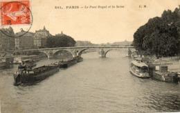 - PARIS - Le Pont Royal Et La Seine (train De Péniches)  -20094- - Brücken