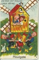 Carte A Systhème -- De Mon Joli Moulin Vous Verrez .... Houlgate     (3 Scans) - Mechanical