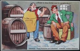 Illustrateur Balanche: Humour Alcoolisme Tonneau Cave Humor Alcoholism Cave Barrel - Santé