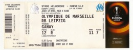 "MARSEILLE - Billet D'entrée ""Olympique Marseille => RB Leipzig"" - Stade Vélodrome Ganay 12 Avril 2018 - EUROPA LEAGUE - Tickets D'entrée"