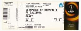 """MARSEILLE - Billet D'entrée """"Olympique Marseille => FC Salzburg"""" - Stade Vélodrome Ganay 26 Avril 2018 - EUROPA LEAGUE - Tickets D'entrée"""
