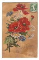 CPA 1905 - 365 JOURS De BONHEUR - FLEURS SUR PLACAGE BOIS - FLEUR - GONESSE - Cartoline