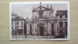 VENETO CARTOLINA DA VICENZA CHIESA S. MARIA DEI SERVI AUTO IN PRIMO PIANO FORMATO PICCOLO NON VIAGGIATA - Vicenza