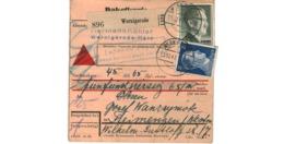 Allemagne  - Colis Postal  - Départ Wernigerode   - 15/12/1943 - Allemagne