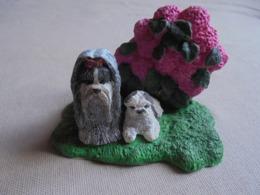 Statuette De Chien - Lhassa Apso Et Son Chiot - Tiere