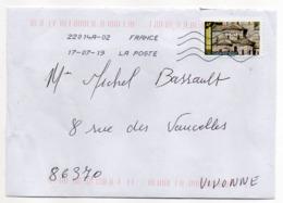 """2019-- Tp Adhésif  """" église De St Nectaire -Cantal  """"  Seul Sur Lettre- - Marcophilie (Lettres)"""