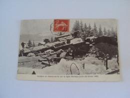ACCIDENT DE CHEMIN DE FER SUR LA LIGNE MORTEAU-LOCLE (20 Février 19007) - Altri