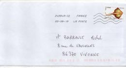 """2019-- Tp  Adhésif  """" Poisson -- Raie Bouclée   """"  Seul Sur Lettre- - Marcophilie (Lettres)"""