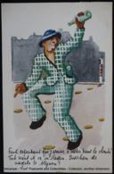 Alcoolisme Homme Ivre Traversant La Rue Drunk Man Crossing The Street Alcoholism - Santé